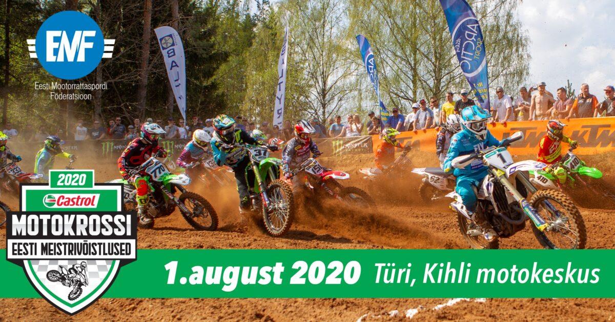 Castrol motokrossi Eesti Meistrivõistluste 3. etapi tulemused, pildid ja videod, Türi, 1. august