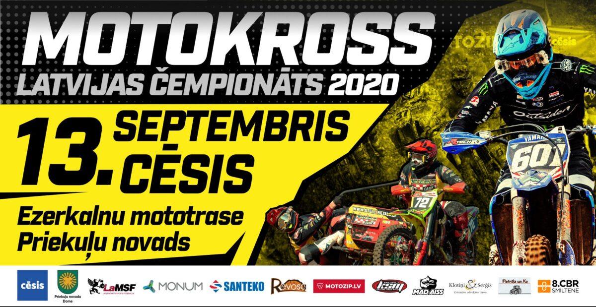 2020. aasta Läti motokrossi meistrivõistluste Cēsis-e etapi tulemused, pildi ja videod
