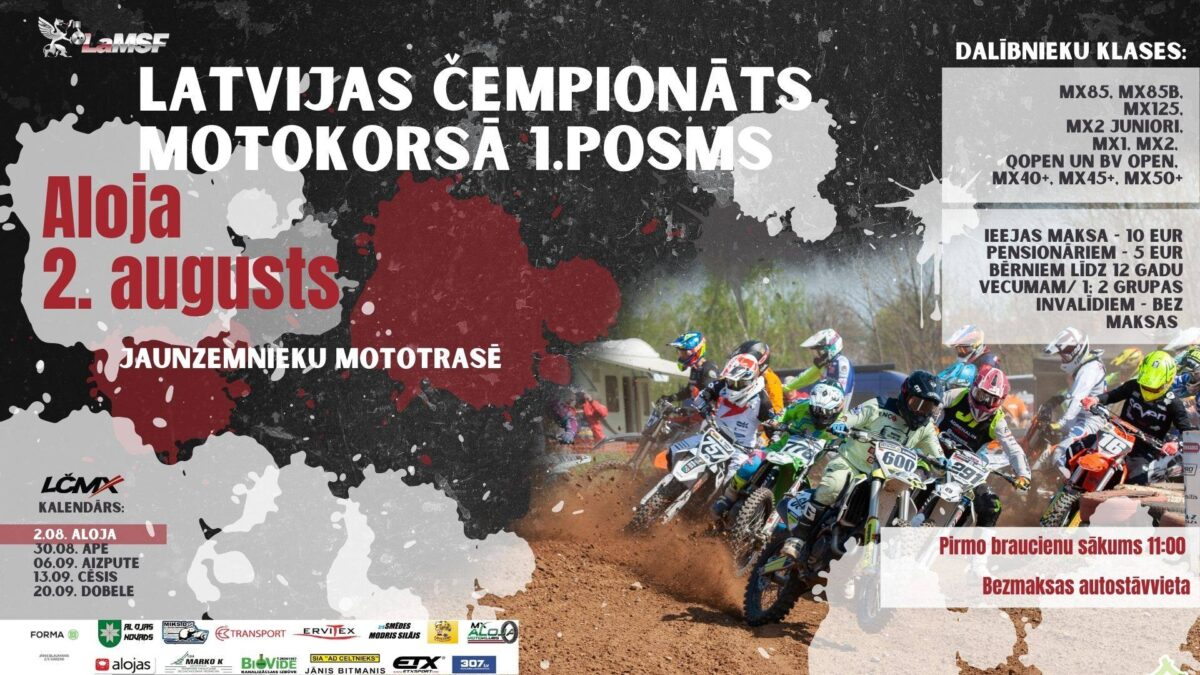 2020 Latvian motocross championship Aloja race results, images and videos