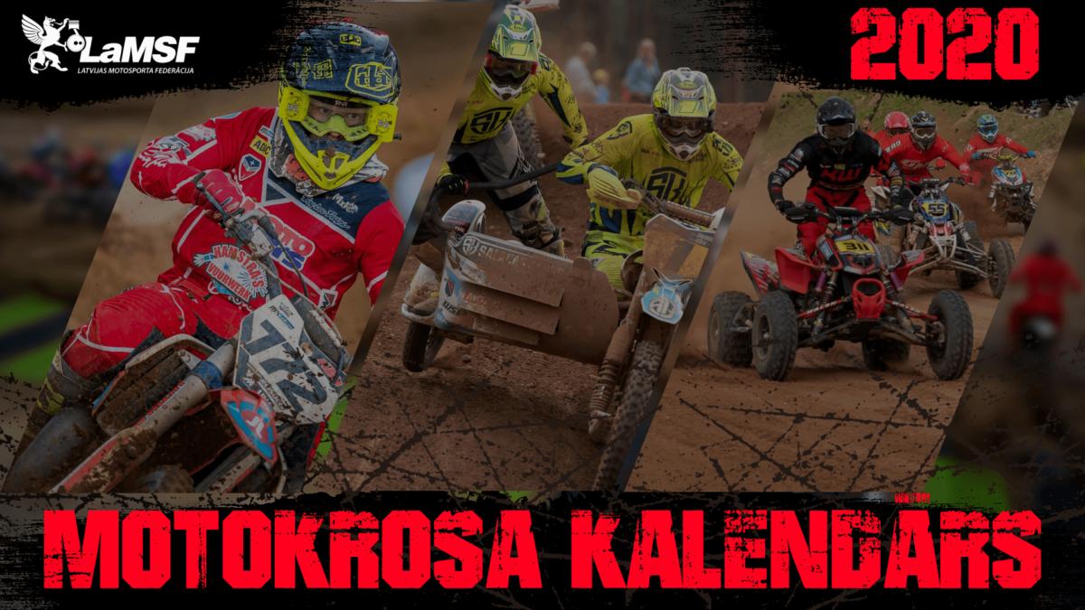 Motokrossi Läti Meistrivõistluste kalender 2020