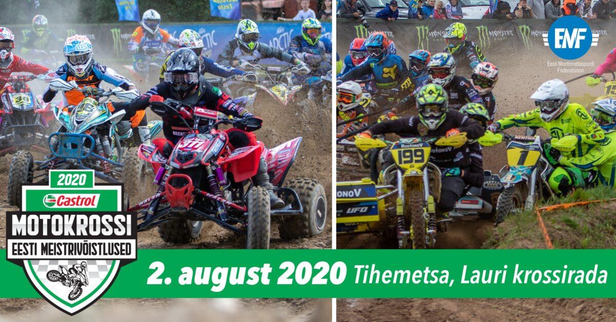 Castrol motokrossi Eesti Meistrivõistluste külgvankrite ja quadide 2. etapi tulemused, pildid ja videod, Tihemetsa, 2. august